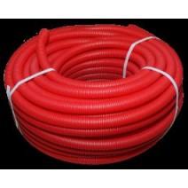 Труба защитная гофрированная красная